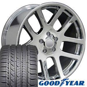 22x10 Wheel Tire Fits Dodge Ram Truck Srt Style Chrome Rims Gy Tires 2223 Cp