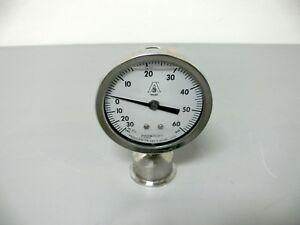 Ashcroft Duralife 8933 60psi 30 Vac Liquid Filled Pressure Gauge 2 Tri clamp