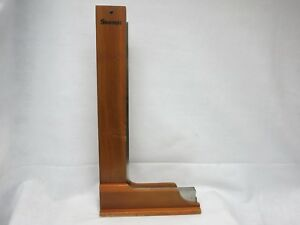 Starrett No 20 24 Hardened Steel Precision Square W Original Wood Case