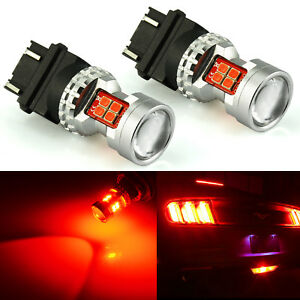 Jdm Astar 2x 13 smd 3157 Red Brake Tail Stop Turn Lights Super Bright Led Bulbs