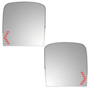 New Pair Power Tow Mirror Glass Heated Signal Chevy Gmc Cadillac Pickup Truck