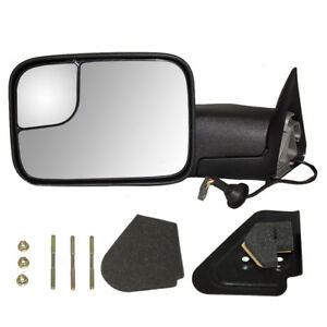 New Drivers Power Tow Side Flip Up Mirror Glass Housing 94 97 Dodge Pickup Truck