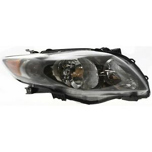 Headlight Right With Black Housing For 2009 2010 Toyota Corolla S Xrs Model