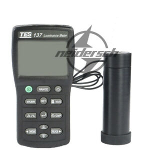 1pcs Tes 137 Luminance Meter Dual Display 4 digit Lcd New