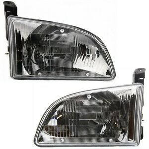 Headlight Set For 98 2000 Toyota Sienna Left And Right With Bulb 2pc