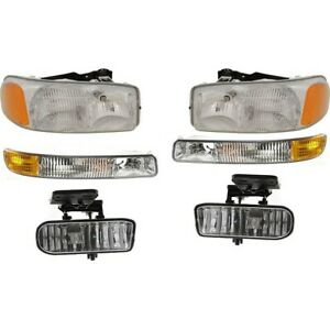 Headlight Kit For 99 2002 Gmc Sierra 1500 Left And Right 6pc