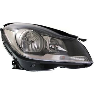 Headlight For 2012 2015 Mercedes Benz C250 Coupe Right Black Housing With Bulb