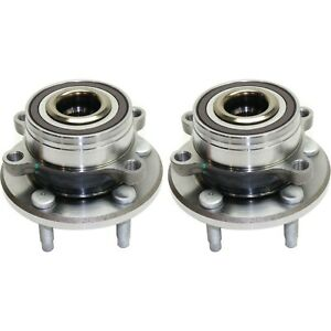2pc Kit Front Rear Wheel Bearing Hub Fits 2011 2016 Ford Explorer Fwd Or 4wd