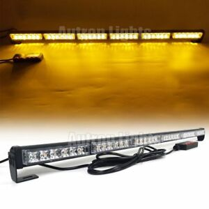 37 Light Bar 36w Led Traffic Advisor Warn Emergency Response Strobe Flash Amber