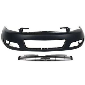 Bumper Cover Kit For 2006 2011 Chevrolet Impala Front 2pc With Grille