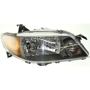 Headlight For 2001 2002 2003 Mazda Protege Right Metal Coat Bezel With Bulb