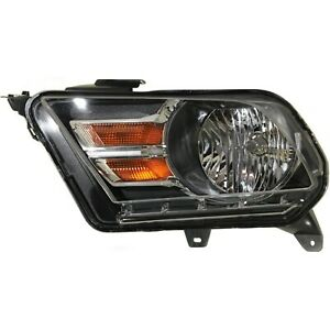 Headlight For 2010 2014 Ford Mustang Left Chrome Housing With Bulb
