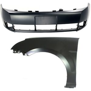 Bumper Cover Kit For 2008 2011 Ford Focus Front 2pc