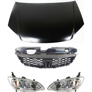 Hood Kit For 2004 2005 Honda Civic 4pc