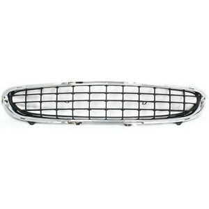 Grille For 98 2001 Chrysler Concorde Chrome Shell W Black Insert Plastic