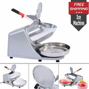 Portable Electric Ice Shaver Machine Snow Cone Maker Ice Crusher Tabletop Shaves