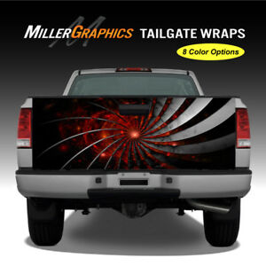 Metal Spiral Truck Tailgate Wrap Vinyl Graphic Decal 8 Color Options