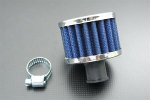 12mm 1 2 Mini Air Intake Crankcase Breather Filter Valve Cover Catch Tank Blue
