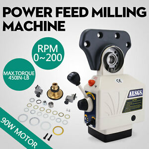 Al 310s X axis Power Feed Milling Machine 110v Variable Speeds Al 310s