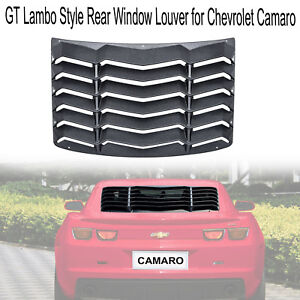 Textured Black Rear Window Louver Sun Shade Cover For 2016 2019 Chevy Camaro