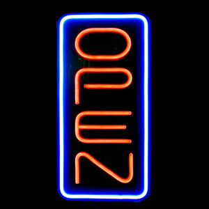 Vertical Neon Open Sign Light Open Signs For Restaraunt Business Bar Caf Shop