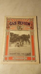 August 1916 Gas Review Magazine Hit Miss Engine Tractor Advertising Hart parr