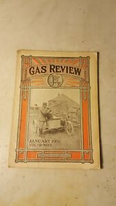 January 1916 Gas Review Magazine Hit Miss Engine Tractor Motorcycle Oilers Coils