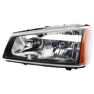 Headlight For 2003 2006 Chevy Silverado 1500 3500 Left Fluted Reflector