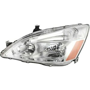 Headlight For 2003 2007 Honda Accord Lx Ex 2007 Accord Ex l Left With Bulb