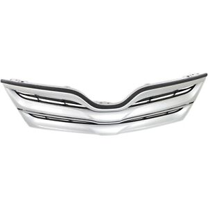 Grille For 2013 2016 Toyota Venza Silver Shell W Black Insert Plastic Capa