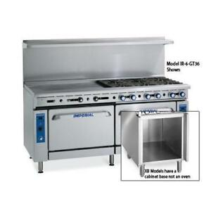 Imperial Ir 2 g48 xb 60 In Range W 2 Burners Griddle Standard Oven