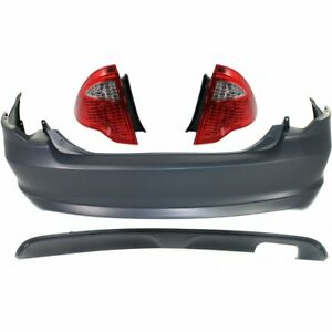 Bumper Kit For 2010 2012 Ford Fusion Rear Capa Certified Part 4pc