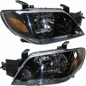 Halogen Headlight Set For 2003 2004 Mitsubishi Outlander W Bulb Capa