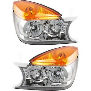 Headlight Set For 2002 2003 Buick Rendezvous Left And Right With Bulb 2pc