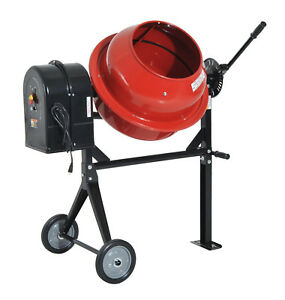 Homcom B42006 Portable Electric Cement Concrete Mixer 1 2 Hp