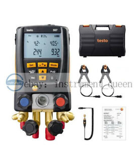 Refrigeration 557 Digital Manifold Kit For Testo 0563 1557 With Clamp Probes