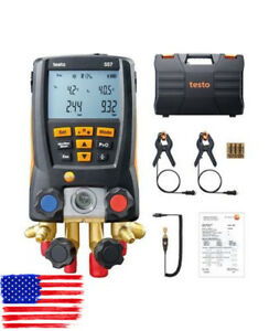 Testo 557 Refrigerant Digital Manifold Tester Kit For 0563 1557 2 Clamp Probes