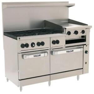 Vulcan 60ss 6b24gb 60 In Range W 6 Burners And 24 In Griddle