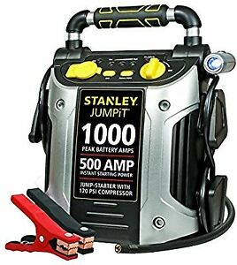 Car Jump Start Amp Volt Psi Air Compressor Battery Crank Charge Cable Portable