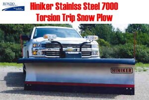 Hiniker 9 Hd Ss Stainless Steel Torsion Trip Edge Snow Plow Fit Chevy Gmc Gm