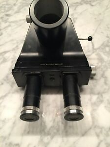 Leitz Wetzlar Trinocular Head With Periplan Gf 10x M For Comparison Microscope
