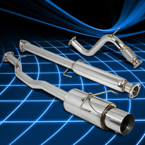 4 5 Muffler Tip Racing Catback Exhaust System For 94 97 Honda Accord F22 2 2 I4