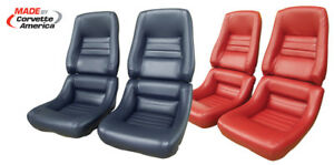 1979 To 1982 Corvette Leather like Seat Covers Mounted On New Foam