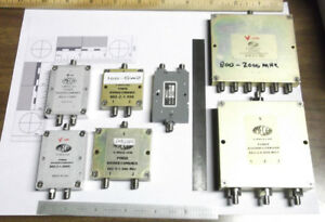 7 Pc Lot Of Rf Sma Power Divider Combiner Meca Mcli 2 Way 3 Way 6 Way Used