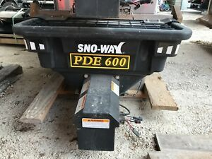 Blow Out Sno Way Poly V Box Salt Spreader Sander Electric Auger 3 4 Yard Pde600