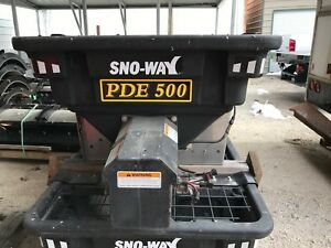 Blow Out Sno Way Poly V Box Salt Spreader Sander Electric Auger 1 2 Yard Pde500