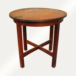 Antique L Jg Stickley Lamp Table W338