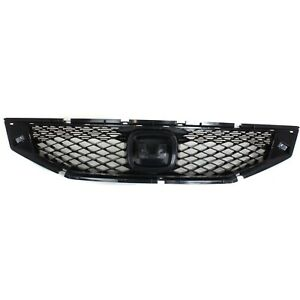 Grille 2008 2010 For Honda Accord Black 2 door Coupe
