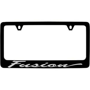 License Frame Inc License Plate Frame Foaf6s Black Zinc Direct Fit