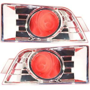 Fog Light Trim Set For 2007 2010 Ford Edge Left Right W Fog Light Hole 2pc